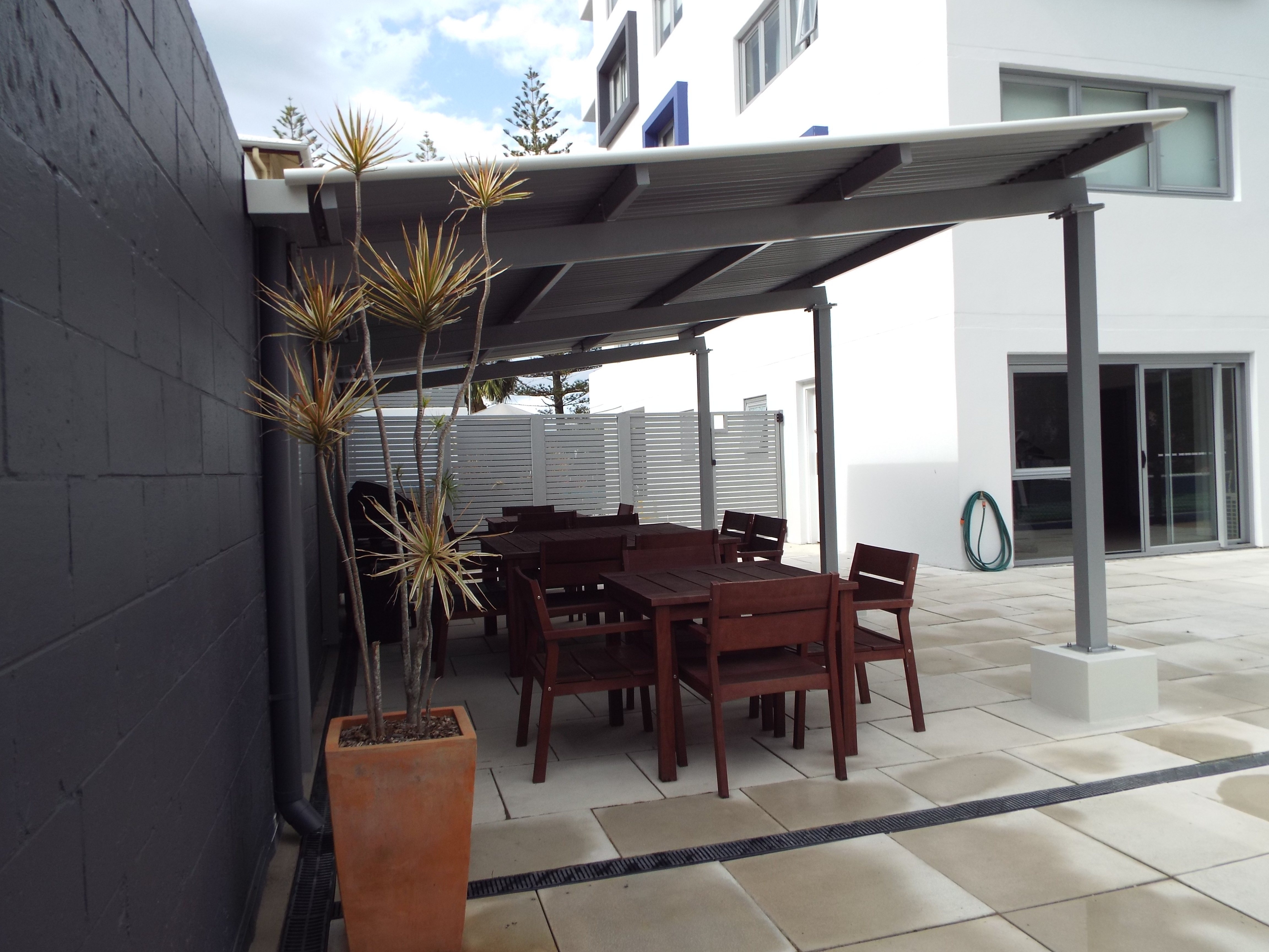 Covered BBQ and out door dining