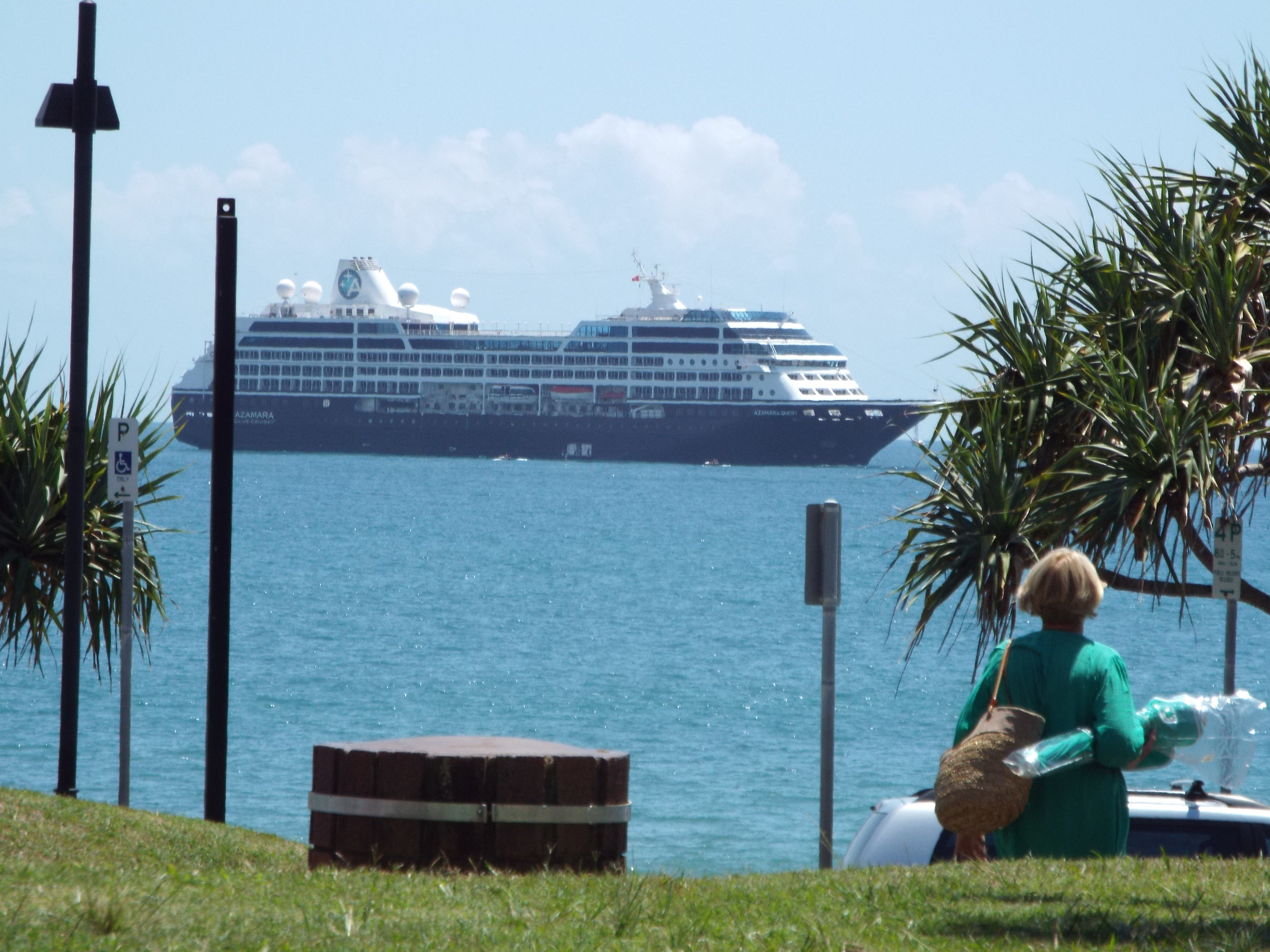 Azamara Quest in Mooloolaba Bay