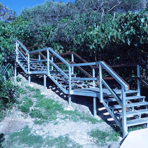 Stairs from the new lookout on Alex Headland