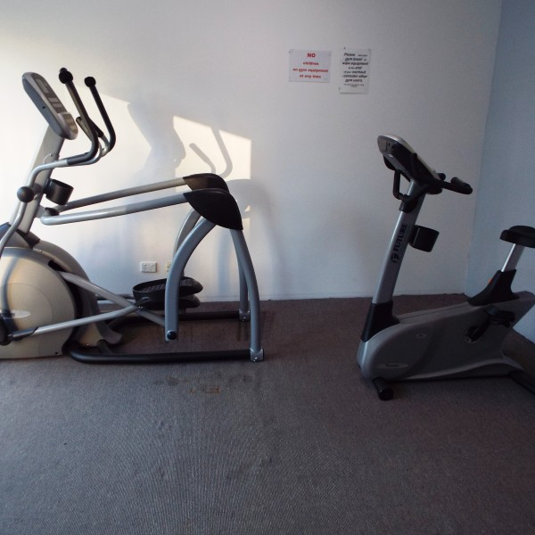 New gym equipment crosstrainer and bike