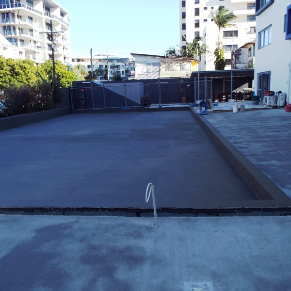 new water proofing and new concrete
