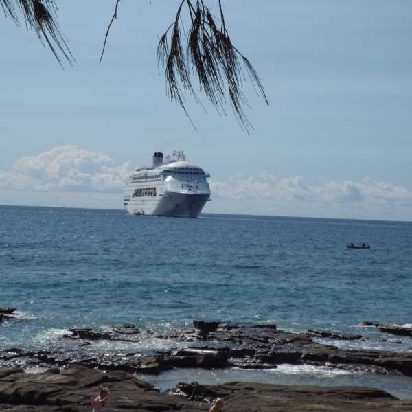 The weather was perfect when the Pacific Pearl stopped in at Mooloolaba
